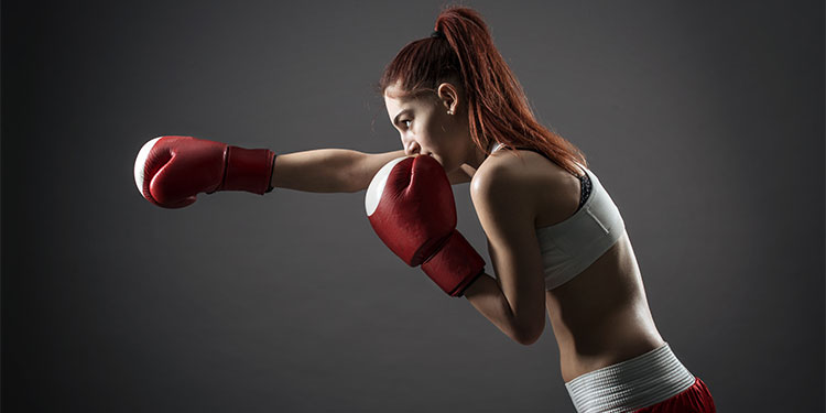 kickboxer woman